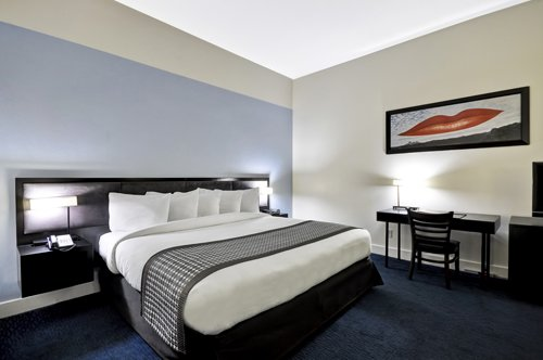 Luxury King Guest Room Mobility Accessible with Roll in Shower