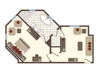 One Bedroom Spa Suite