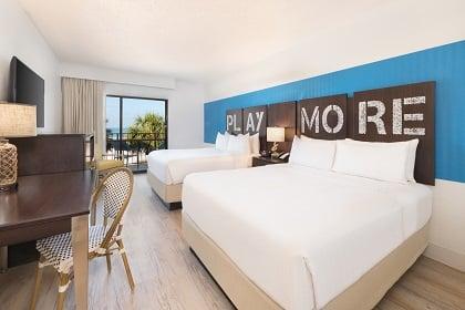 Ocean Front Resort Guest Room Two Queens