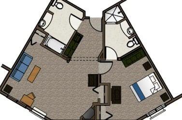 Lakewood King Suite 1 Bathroom