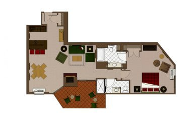Lodges King Suite 1 Bathroom