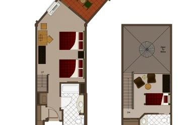 Lodges Queen Loft 2 Bathroom