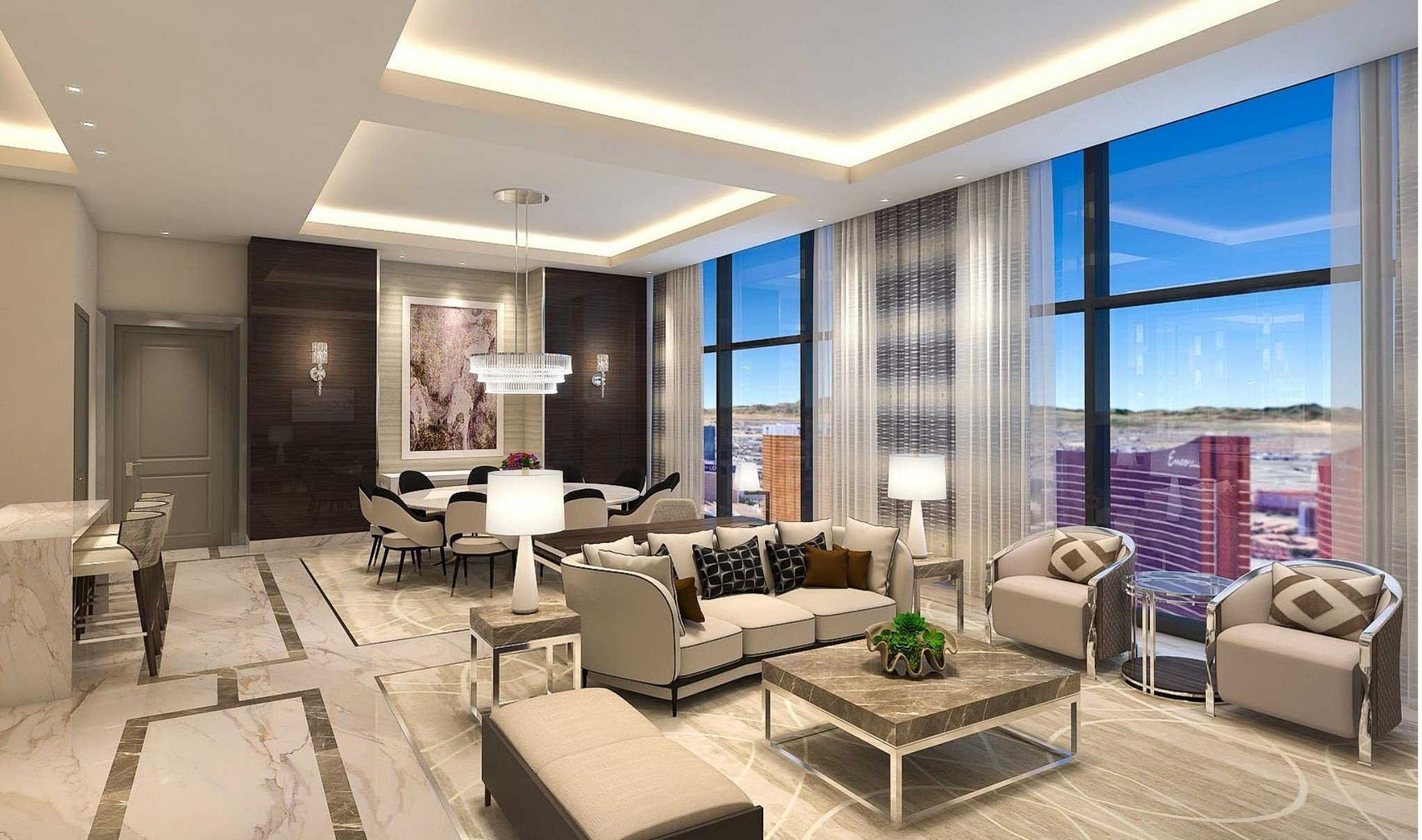 Crockfords: Strip View Three Bedroom Entertainment Suite
